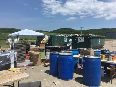 Household hazardous waste collection at Sauk County Clean Sweep